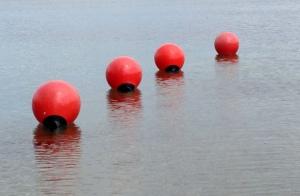 Buoys on Long Lake Traverse City Michigan