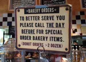 Special order baked goods at Bud's Interlochen