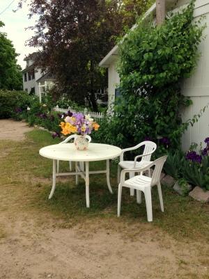 Lovely sitting area at the Iris Farm