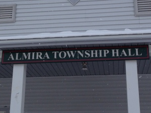 Almira Township Hall downtown Lake Ann in Benzie County