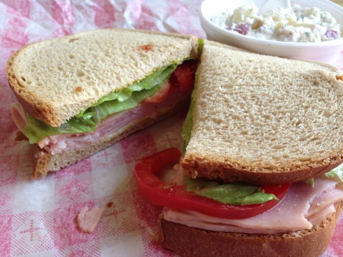 Deli sandwich at Leones in Traverse City