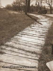 Walking path Glen Haven Sleeping Bear National Lakeshore