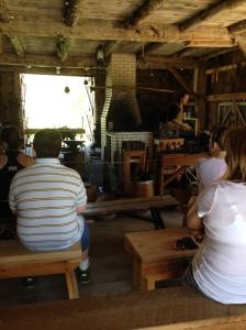 Blacksmith demonstration Glen Haven
