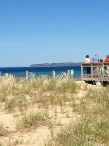 Boardwalk view of Sleeping Bear Bay