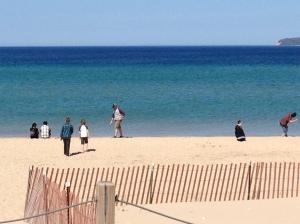 Glen Haven beach in June