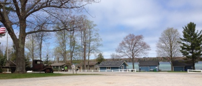 Market 22 sits across from Little Traverse Lake in Leelanau County