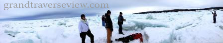 panoramic view of the artic lake michigan