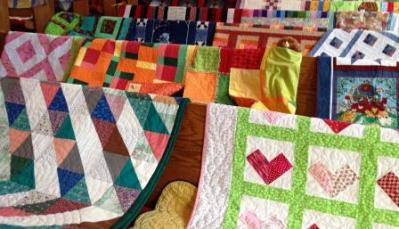 quilt show at methodist church lake ann snow pine fest 2014